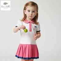 DB4778 Dave Bella Summer Baby Girls Sport Dress Purple Red Dress Baby Sweet Dress Kids Toddle