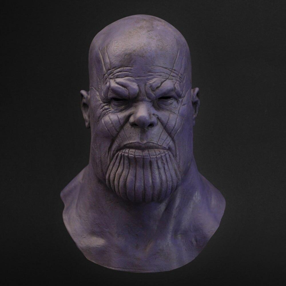 Thanos masque Cosplay Avengers Endgame Thanos accessoire de Costume masques en Latex casque intégral Halloween carnaval accessoires de fête
