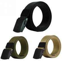 8874ae96c89 110cm 120cm 130cm Men s outdoor Fahion Leisure Quick-drying Belt Canvas  Tactical Belt Army Green