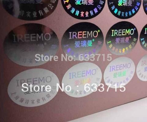 etiquetas impressas personalizadas do holograma pomba