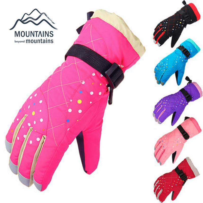 New Brand Women Windproof and Waterproof Sport Skiing Gloves Winter Motorcycle Snowboarding Gloves For Climbing Outdoor Sports