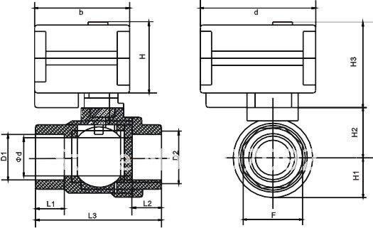 3/4 ''CWX-15Q/N мини электрический шаровой клапан из нержавеющей стали CR01, CR02 или CR05 Тип управления с диагональю экрана 3-6 в/12 V 3 предмета в комплекте