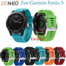 Watch Band Quick Release Wrist Band Watch For Garmin Fenix 5 Strap Sports Colorful Silicone Watchband For Garmin Forerunner 935 susenstone 2018 watch strap silicone quick release kit band strap for garmin fenix 5x fashion colorful sports watchband hot sale