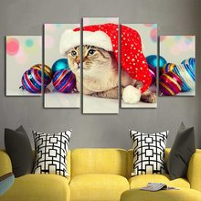 Modern Wall Art For Wall Framework 5 Panel Christmas Decorations For Home Modular Picture Paint On Canvas Prints Painting(China)