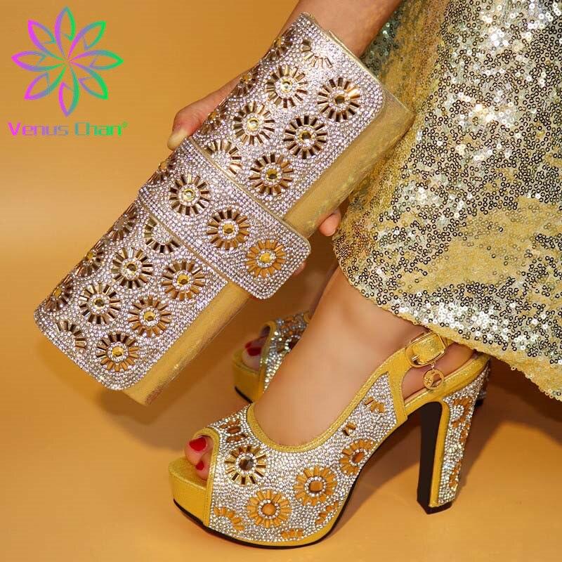 Shoe Purse-Set Wedding-Pumps Party Italian Nigerian Designer Women New-Arrival And