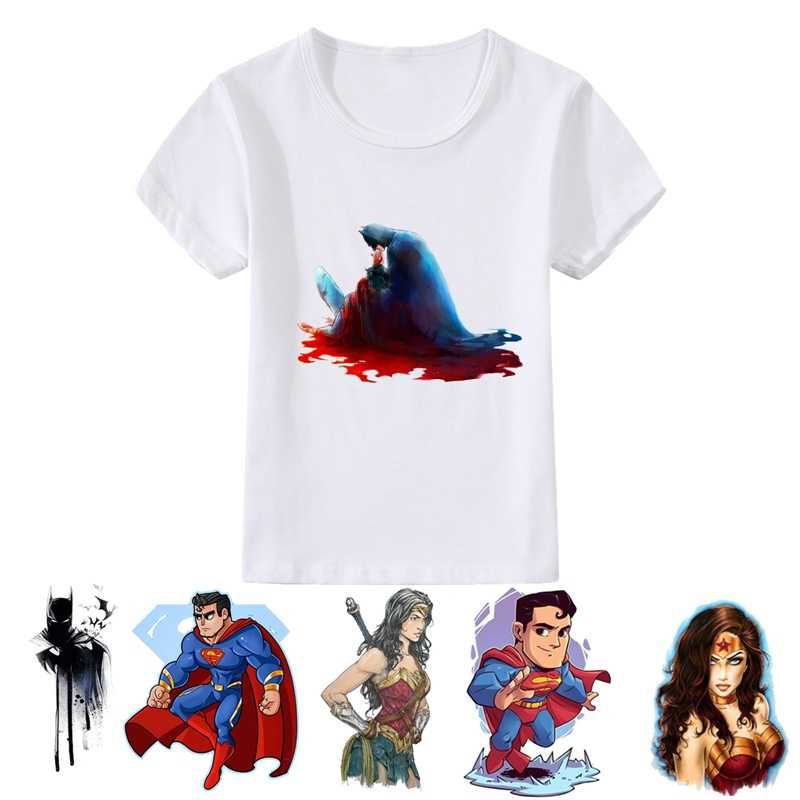 DC Comics Super hero Cool animation patterns Modal Summer Kidswear, Boy/girl Summer T-shirt Short Sleeve White Kid Clothes