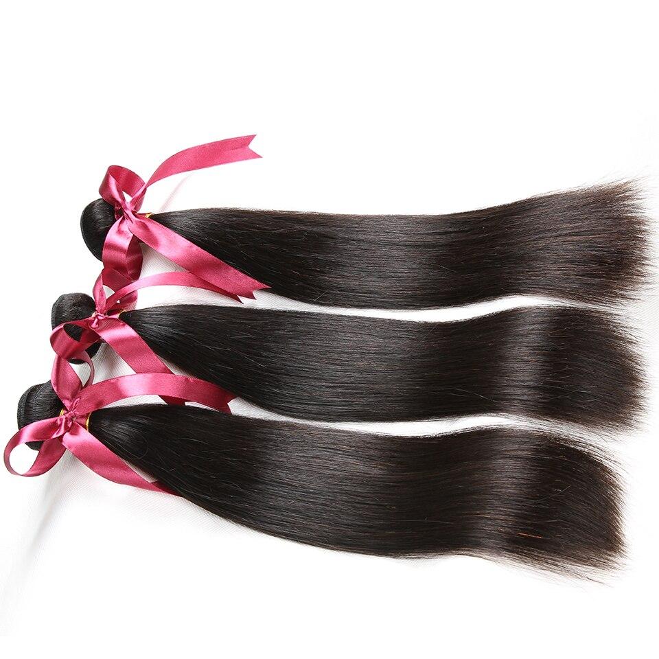 Karizma brasilianska raka hårbuntar 3 st. Lot Natural Black Color - Mänskligt hår (svart) - Foto 2