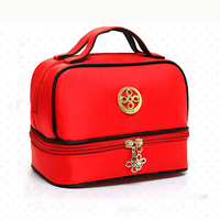 Nylon Fabric Make Up Bags Women Brush Necessaries Cosmetic Bag Travel Toiletry Storage Box Makeup Bag
