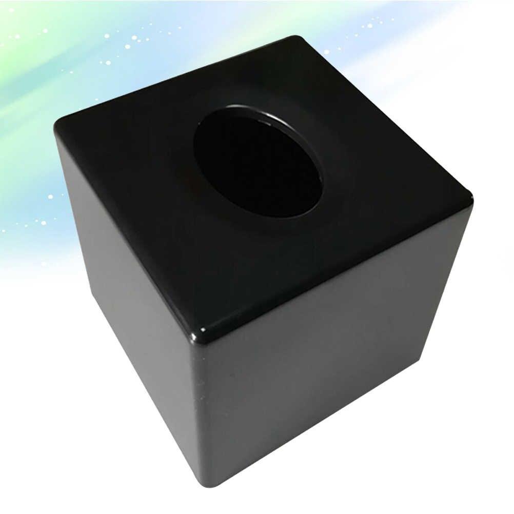 1 шт. коробка для салфеток ABS Настольный уникальный черный держатель для бумаги контейнер для салфеток чехол для салфеток для автомобиля, офиса, дома