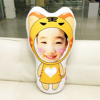 Habinisi diy foto custom creatieve pluche pop cartoon tijger pop de beste gift boneca lol baby reborn meisjes speelgoed hot koop
