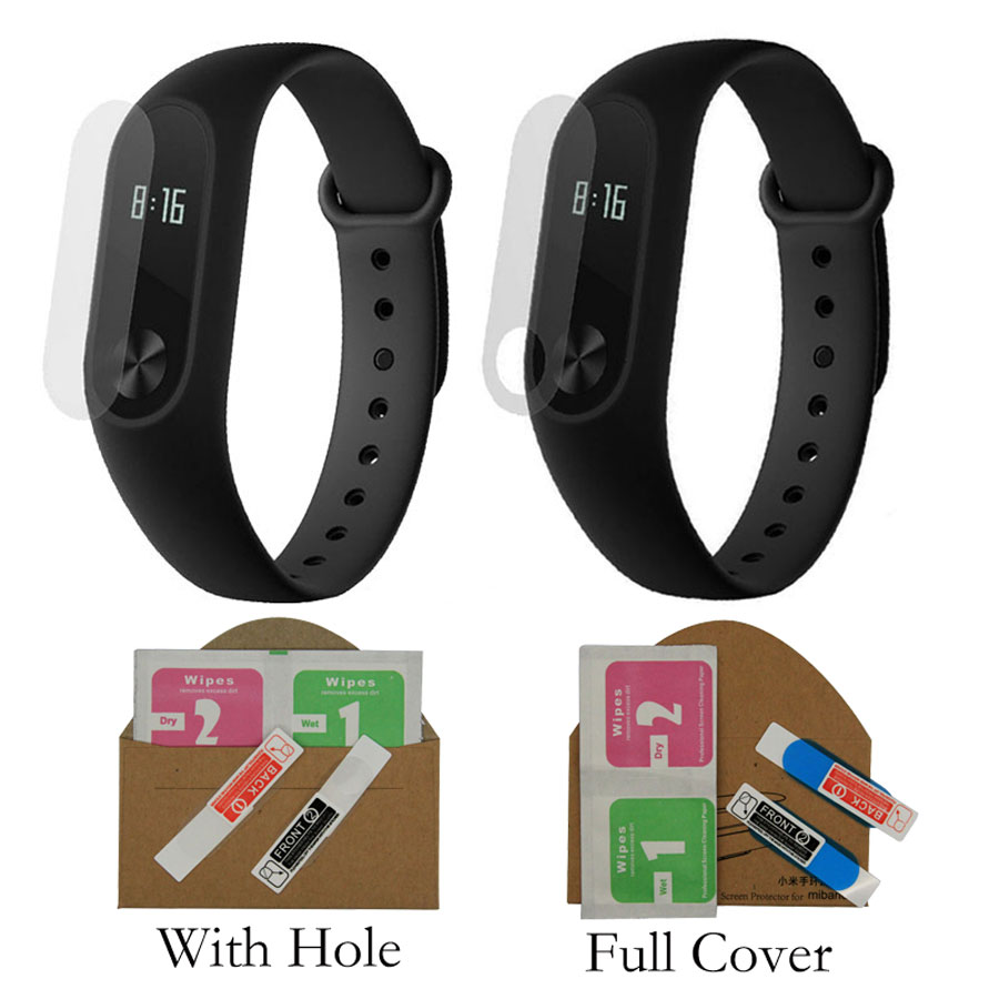 2pcs/Pack Screen Protector Film For Mi Band 2 Ultrathin Anti-explosure Screen Protective Film For Miband 2 with Hole
