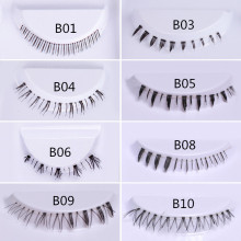 5 Pairs Lower Eyelashes Pack 8 Different Styles Under Eye Lashes Soft Lower Eyelashes 100% Handmade Clear Band Bottom Lashes 5 pairs 100