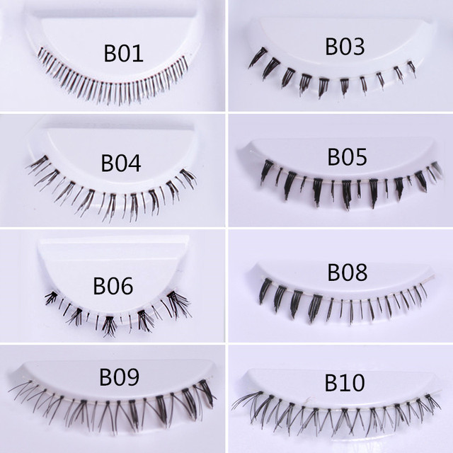 5 Pairs Lower Eyelashes Pack 8 Different Styles Under Eye Lashes Soft Lower Eyelashes 100% Handmade Clear Band Bottom Lashes