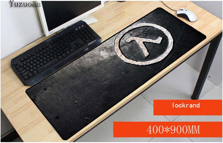 Us 799 10 Offyuzuoan Drop Shipping Gaming Game Keyboard Mouse Mats Half Life Silver Logo Custom High Speed Large Lock Edge Pad Foror Csgo Lol In