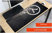 Yuzuoan Drop Shipping Gaming Game keyboard Mouse Mats Half Life Silver Logo Custom High Speed Large Lock Edge Pad Foror CSGO LOL