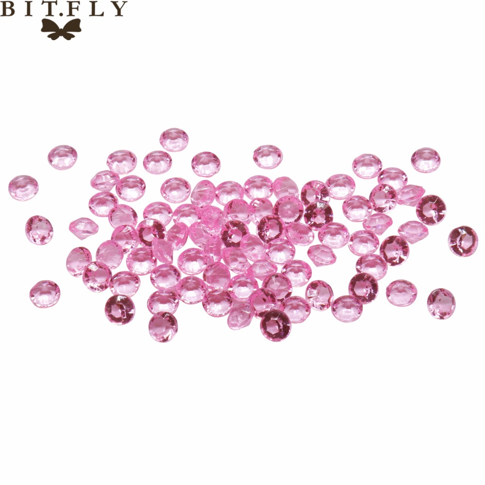 1000pcs 4.2mm Light Gold / Champagne WEDDING TABLE SCATTER CRYSTALS DIAMOND DECORATION PARTY FAVROS BY FREE SHIPPING