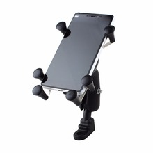 Universal Adjustable Motorcycle Bike Bicycle Phone Holder Shockproof Handlebar Cell Mount For Samsung Iphone 6 6s 7