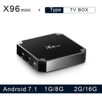 X96 mini Android 7.1 Smart TV Box 1G8G/2G16G Amlogic S905W Quad Core 2.4GHz  Wifi 4K HD Media Player  X96mini Set Top Box Set-top Boxes