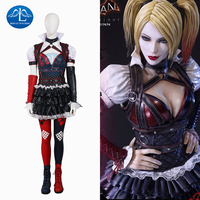 2016 Hot Women S Batman Arkham Knight Harley Quinn Cosplay Costume Deluxe Outfit Halloween Costumes