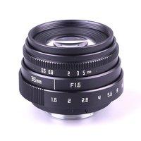New Arrival Mini 35mm f1.6 C mount camera CCTV Lens II For Olympus Panasonic Micro 4/3 Camera & Adapter Bundle Black