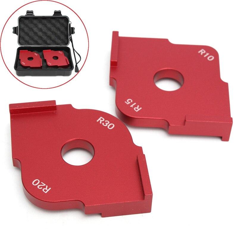 2 Pcs/Set Wood Panel Radius Quick-Jig Router Table Bits Engraving Machine Trimmer Jig Corner Templates Kit