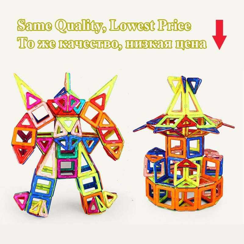ミニサイズブロック磁気建設セットモデル & ビルディング玩具プラスチック磁気ブロック教育玩具キッズギフト