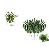 12pcs Simulation Green Plastic Leaf Artificial Palm Tree Leaves Wedding DIY Decoration Flower Leaves Plant Fake Flowers
