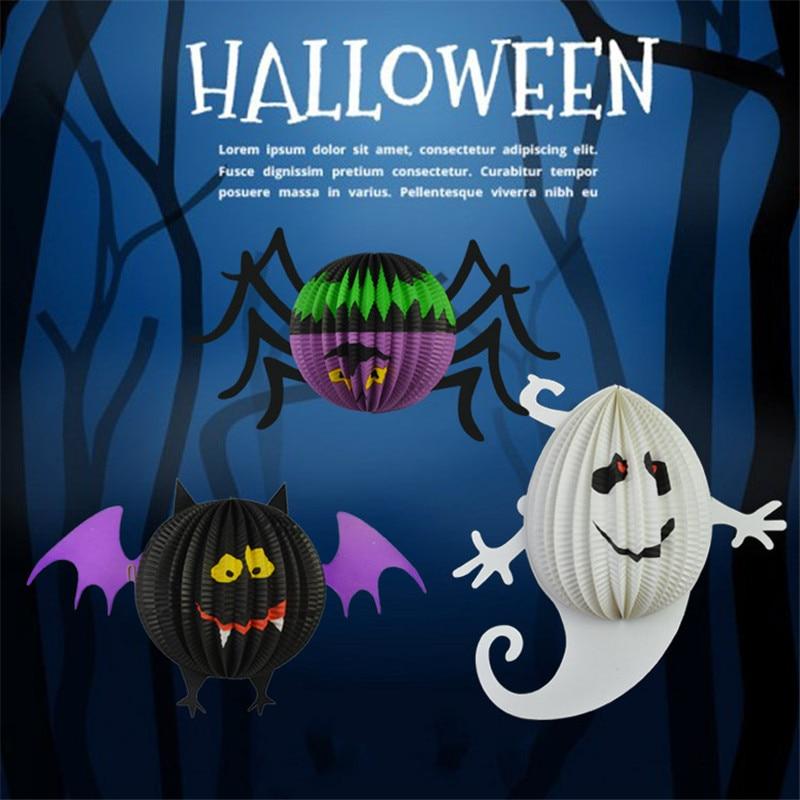 Halloween Decoration Hanging Lamp Bat Spider Ghost Skull