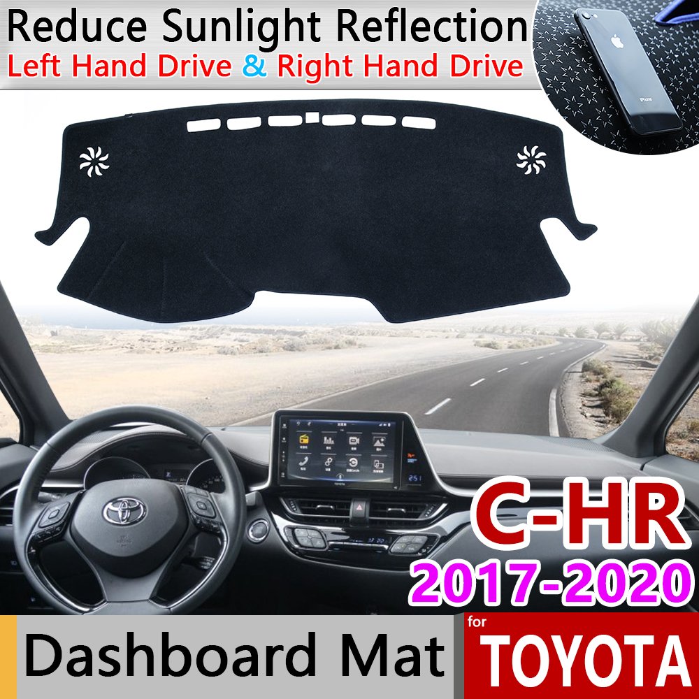 for Toyota C-HR 2017 2018 2020 CHR C HR Anti-Slip Mat Dashboard Dash Cover Pad Sunshade Dashmat Protect Carpet Car Accessories