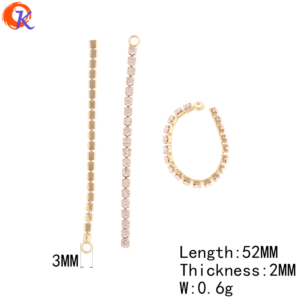 Image 3 - Cordial Design 50Pcs 52MM 56MM Jewelry Accessories/Earring Connectors/DIY Making/Rhinestone Chain/Hand Made/Earring Findings-in Jewelry Findings & Components from Jewelry & Accessories