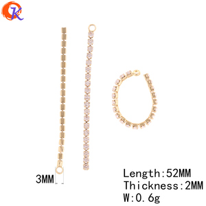 Image 3 - Cordial Design 50Pcs 52MM 56MM Jewelry Accessories/Earring Connectors/DIY Making/Rhinestone Chain/Hand Made/Earring Findings