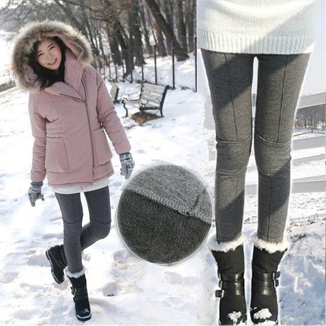 Мода Корейский беременных живота брюки забота о беременных женщин гетры хлопка линия патч плюс толстый бархат леггинсы