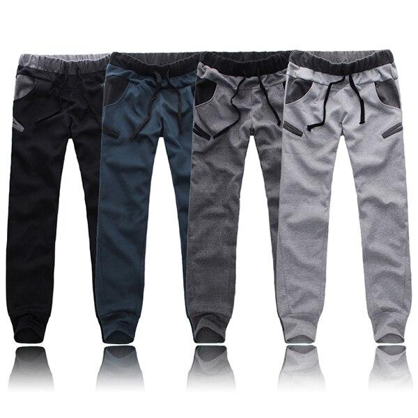 Mens Soft Moda Casual Harem Holgado Danza Sweat Pants Pantalones Pantalones