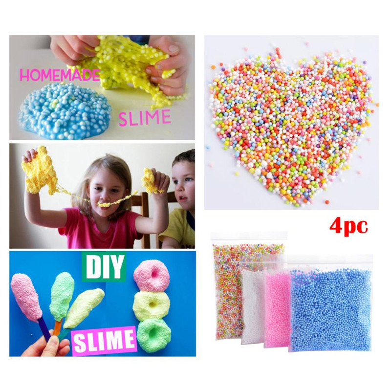 4 Bags Colorful Foam Balls Child Kids Diy Crafts Supplies For Homemade Slime Mix Color 30000pcs 0.1-0.18 Inch Beads Drop Ship Home & Garden Apparel Sewing & Fabric