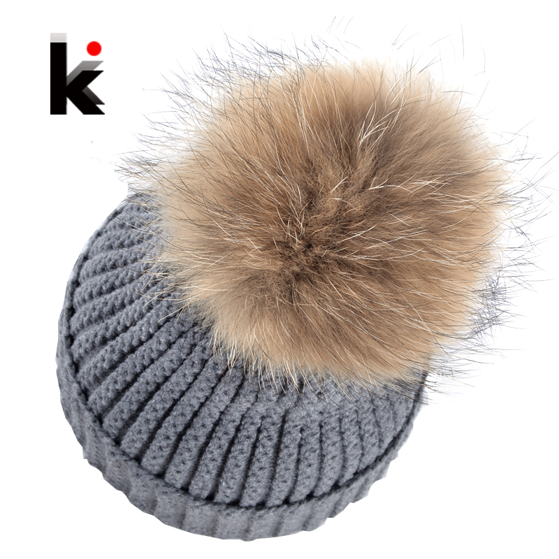 Women Bonnet Beanie Raccoon Fur Pom Poms Wool Hat Knitted Skullies Fashion Caps Ladies Knit Cap Winter Hats For Women Beanies women bonnet beanie raccoon fur pom poms wool hat knitted skullies fashion caps ladies knit cap winter hats for women beanies