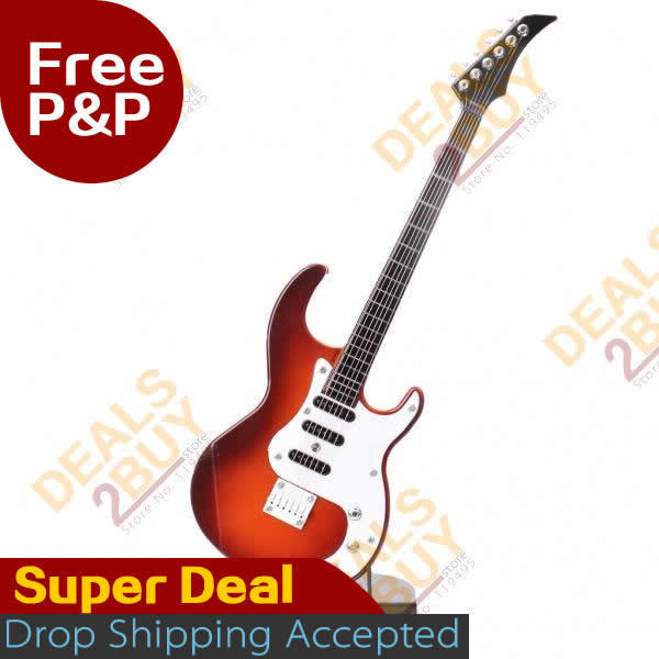 1 PC Electric Guitar toy, free shipping, Electric Guitar Shaped Musical Toy with Stand (2*AA), 2013 new design, free drop ship