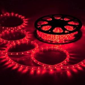 Image 3 - Светодиодная лента AC220 в, IP65 Водонепроницаемый гибкий веревочный светильник 5050SMD теплый белый/синий/зеленый/Yello с вилкой питания, декоративный светильник ing