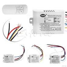 220 В 1/2/3 путей беспроводной переключатель Вкл/Выкл лампы