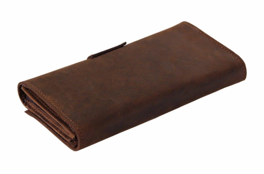 Genuine Leather Wallet Men Cash Money And Card Purse Fashion Long Clutch Bag Leather Long Money Clip For Boys 21 Card Money Bag