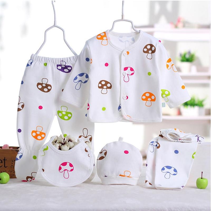 (5 sztuk / zestaw) noworodka Zestaw 0-3 M Zestaw Odzieżowy Marki - Odzież dla niemowląt - Zdjęcie 5