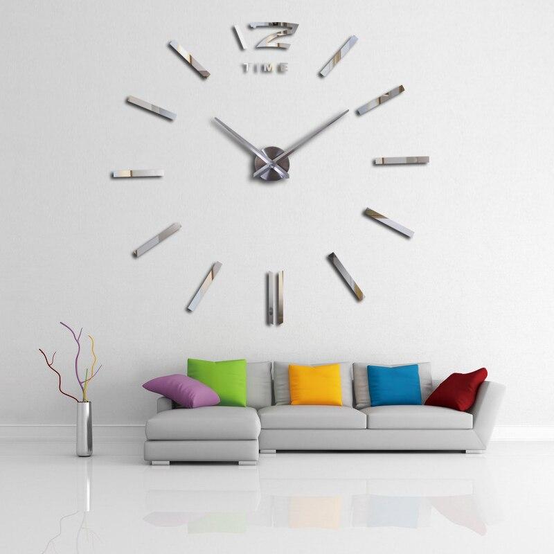 2017 mushein fashion 3D Wall Clock big promotion home decor large Arrival Quartz Clocks fashion modern creative Free Shipping