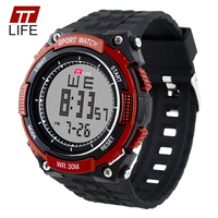 TTLIFE Brand Relogio Masculino Military Army Outdoor Sports Watches Fashion Silicone Waterproof LED Display Digital Watch