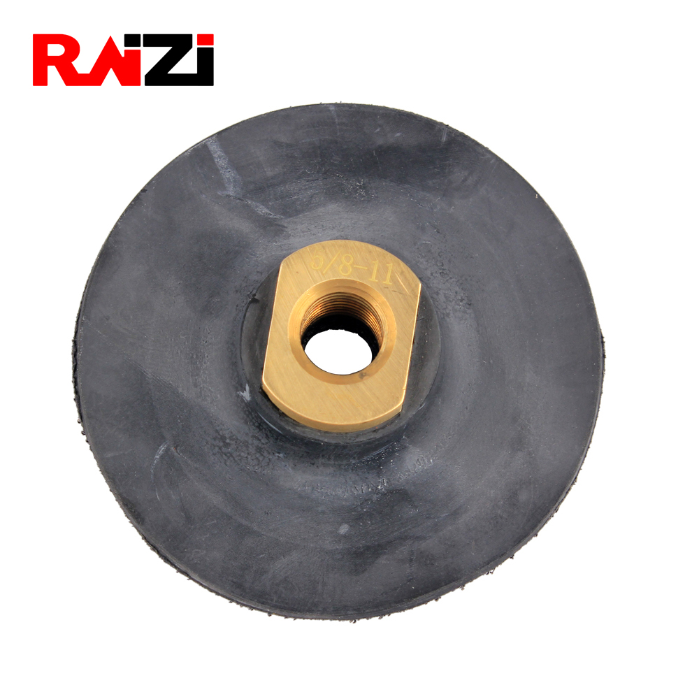 "4inch//100mm Flexible Backer Pad Holder for Hook /& Loop Diamond Pads 5//8/"" 11"