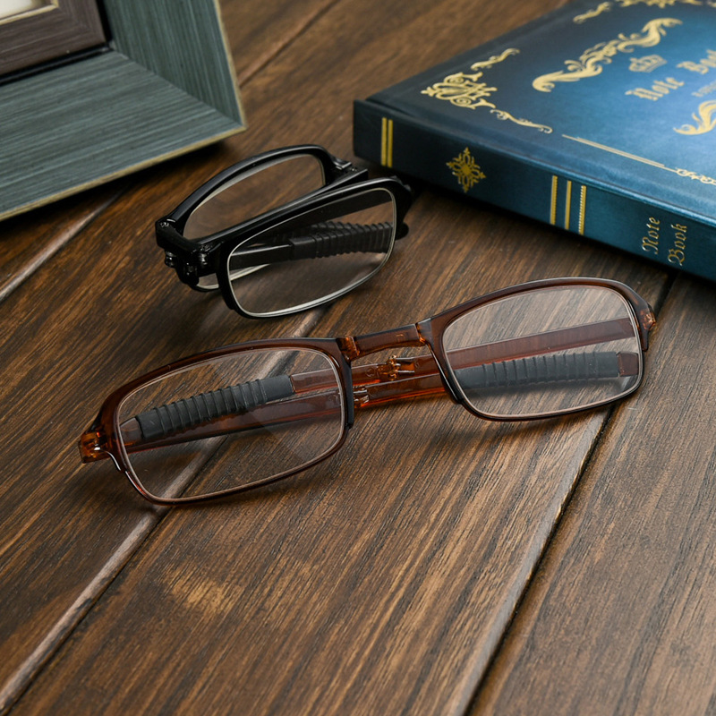 2018 Occhiali Da Lettura Reading Glasses Women Folding Portable Old Light Resin Film To Withstand The Impact Of Reading Glasses