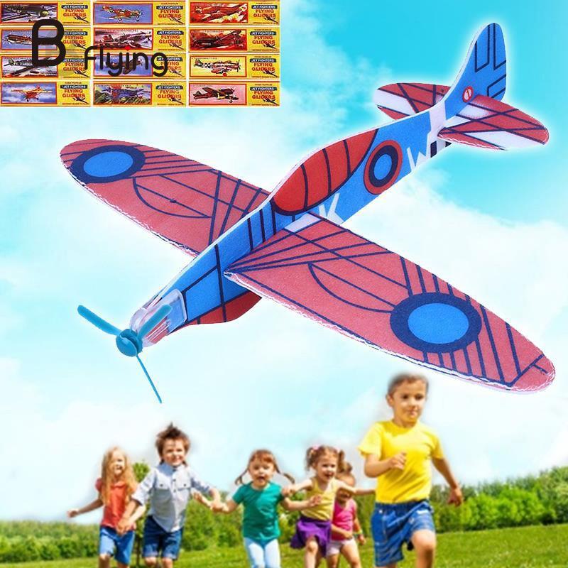 12 шт. DIY рука бросить планер модель самолета ребенок игры и игрушки пены самолет