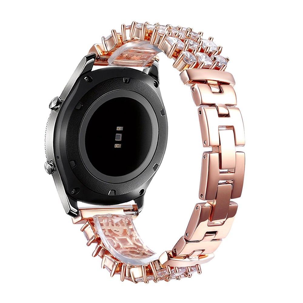 Bracelet en diamant Bling pour Samsung Galaxy Gear S3 bande en acier inoxydable strass frontière classique pour montre galaxie Bracelet 46mm - 6