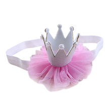 Girl Baby Elastic Flower Crown Girls Hairbands Head Accessories Baby Princess Queen Rhinestone Tiara Headbands Hair Band*(China)