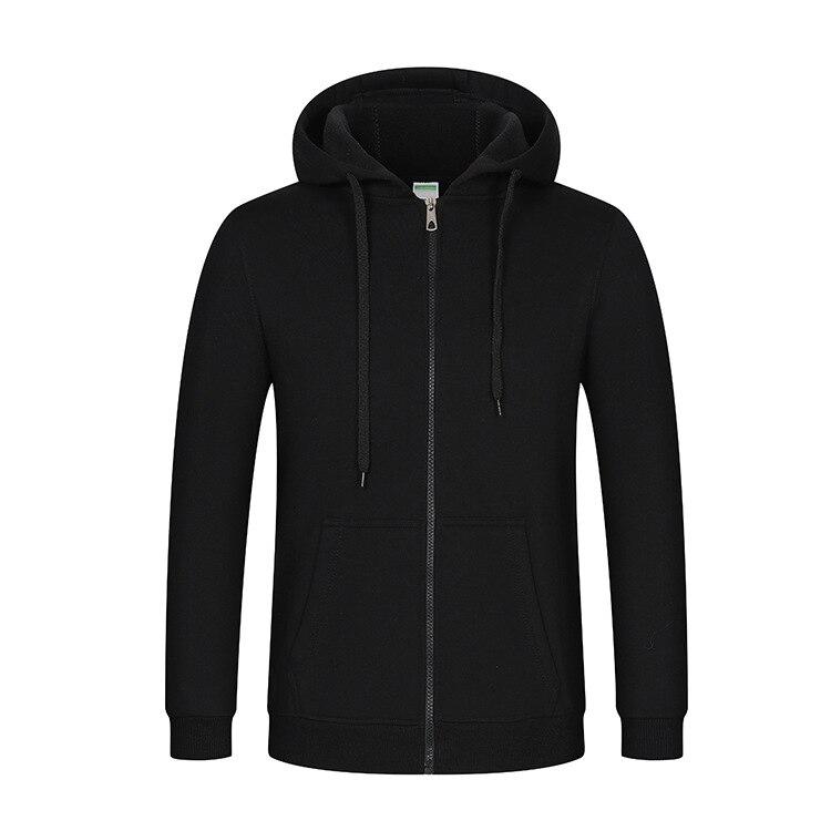 Image 5 - Толстовка с капюшоном и логотипом на молнии для мужчин и женщин, Повседневная хлопковая куртка унисексТолстовки и свитшоты   -