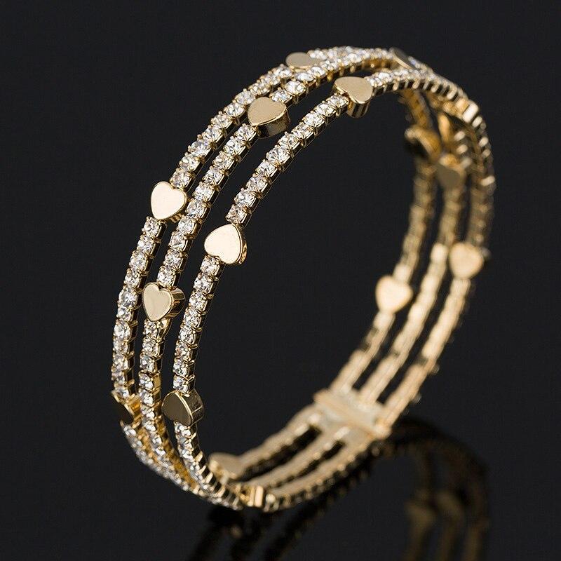 3 row Wristband Bracelet