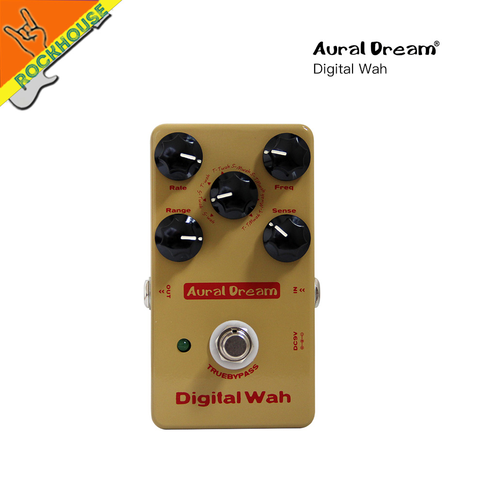 Digital WAH WAH Guitar Effects Pedal Auto Wah Wah Effect pedal Guitarra stompbox large dynamic True bypass Free Shipping new pegasus overdrive pedal guitar effects pedal high power drive booster tube overload stompbox true bypass free shipping